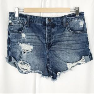 Celebrity Pink Distressed Denim Shorts